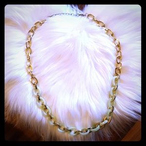 14th & Union statement necklace soft green gold